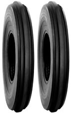 TWO 4.00-19 F2 3 Rib tractor tires & TUBES fits Ferguson TO20, TO30 free ship