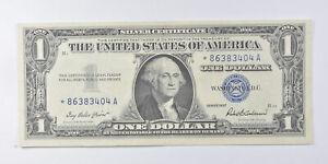 Crisp AU/Unc 1957 Star ERROR Replacement Note - Silver Certificate $1 *878