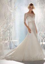 Morilee Satin A-line Wedding Dresses