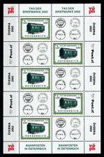 [98685] Austria Österreich 2002 Stamp day Train Railway Miniature Sheet MNH
