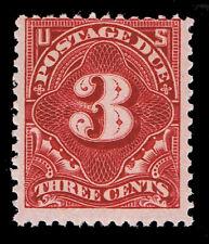 GENUINE SCOTT #J33 MINT OG NH 1894 DEEP CLARET 3¢ POSTAGE DUE SCV $575 - ESTATE.