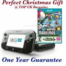 Nintendo Wii U 32 GB Black Console + New Super Mario Bros - SUPER FAST DELIVERY