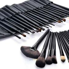 24pcs Soft Cosmeic Eyebrow Eye Shadow Makeup Brush Tool Set Kit Case Pouch Bag