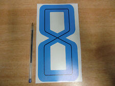 GUY MARTIN race number 8 - Blue & Black Sticker / Decal large 200mm