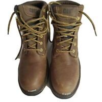 M11 10w new Caterpillar Mens Work Safety Boots Brown Leather Waterproof Lace Up