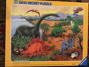 1987 Ravensburger 34 Piece Puzzle, Dino Secret Puzzle, #330