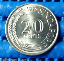 1978 Singapore 20 Cents Sword Fish Coin