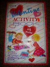 Vintage Cleo Valentines Activity Book Puzzle Coloring Die Cut Day 115pcs 1980's
