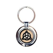 Celtic Triquetra Circle Knot Irish Keychain Key Ring