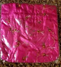 New Vogue Vintage Womens Embroidery Ribbon Bridal Wallet Purses Handbag Pink