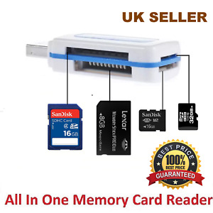 25 x Memory card reader all in one USB 2.0 Adapter for Micro SD  MMC SDHC TF M2