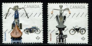 Set of Motorcycles Used Canada Stamps from 2013