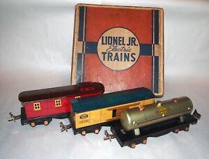 Lionel Prewar O Gauge 1061 Lionel Jr. Set of Freight Cars! BOX! NICE! PA