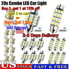 20xCombo LED Car Interior Inside Light Dome Map Door License Plate Lights White~
