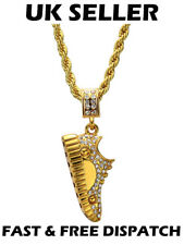 Trainer Gold Necklace Chain Iced Out Hip Hop Bling Gangsta Shiny Crystal Shoes