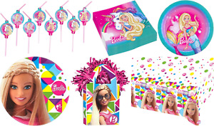 Barbie Dreamtopia Girls Birthday Party Tableware Plates Napkins Costume Balloons