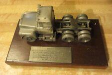 original MACK TRUCK salesman sample award desk paperweight advertising truck co