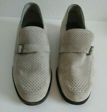 Men's Hush Puppies Slip On Loafers Size 10 Gray Suede Casual Dress Shoes