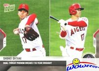 2021 Topps NOW #30 Shohei Ohtani Dual Threat Phenom Breaks 118 Year Drought MINT