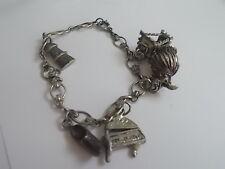 Vintage Charm Bracelet Dutch Holland 5 Charms Holland Theme Dutch Shoe