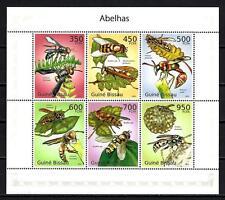 Guinea-Bissau 2010 api n° 3469 à 3474 foglio nuovo 1° scelta