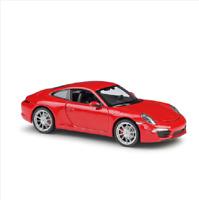 Welly 1:24 Porsche 911 991 Carrera S Red Diecast Model Sports Racing Car IN BOX