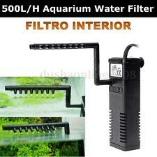 500 L/H Filtre Interne Pompe À Eau Pour Aquarium étang Piscine Poisson Tank 5W