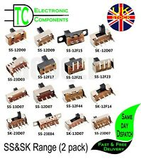 PCB mount Slide Switches SS & SK range Different types available (2 pack)