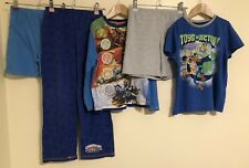 Boys Bundle Of Nightwear Age 7-8 Toy Story Skylanders Giants <D1727