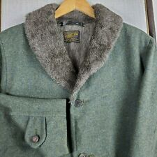 PENDLETON USA Size Medium Mens Virgin Wool Faux Fur Lined Parka Long Coat Jacket