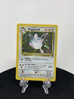 Wigglytuff 19/130 Base Set 2 Holo Rare Pokemon Card In Sleeve And Toploader