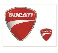 DUCATI Logotipo Pegatina 2 Piezas Pegatina Set NUEVO
