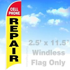 CELL PHONE REPAIR - WINDLESS Swooper Feather Flag 2.5x11.5' Banner Sign - yb