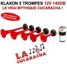 ENORME KLAXON CUCARACHA 5 TROMPES 12V 145DB KIT 100% COMPLET MYTHIQUE KLAXON !!