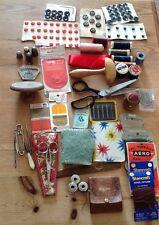 Vintage Sewing Notions/Thimbles/SYLKO Reels/Hatpins/Mushroom/scissors/Needlecase
