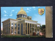 RP Vintage Postcard - USA - #17 State Capitol Montgomery Alabama - Golden Emboss