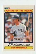 1990 Fleer New York Yankees Baseball Card #626 Don Mattingly '85