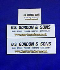 1:50 Scale Clear Inkjet Waterslide Decal, GS Gordon & Sons, * Code 3 *