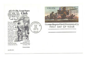 UX78 George Rogers Clark, Vicennes, 1779 Aristocrat Cachets FDC