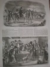 Ireland Scenes from Irish life Kilkenny market and a schoolmaster 1857 prints