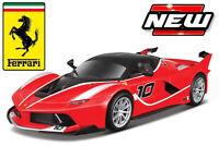 FERRARI FXX-K Sports car red body number 10  diecast model 1:18 BURAGO 16010R