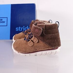 Size 3 WIDE Infant Kid's Stride Rite Soft Motion Oliver Ankle Boot BB57194 Otter