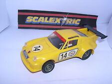 Scalextric C-090155 Porsche 911 Turbo #14 Jaune Excellent Etat Boite Ouverte