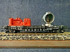 Vintage HO Reading Flat Car with Searchlight & Generator