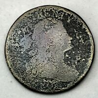 NO DATE ??  1C DRAPED BUST LARGE CENT COPPER  U.S. COIN.