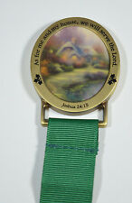 Thomas Kinkade EVERETT'S COTTAGE 1998 Magnet With Green Ribbon Joshua 24:15