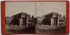 Original vintage 1870er J. Albumin Stereofoto AUSTRIA Wien, Oper