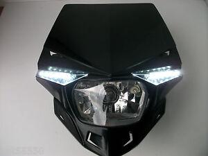 New Ufo Universal Headlight Enduro Road Legal Trail Green Lane Streetfighter Crf
