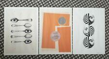 Original Surrealist Lithograph Prints. 1960's Surrealism Signed Templar.