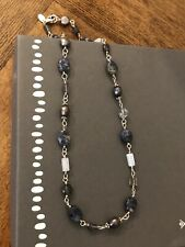 "Silpada Sterling Silver Pearls Lolite Sodalite Blue Necklace N1308 Stone 16"" NEW"